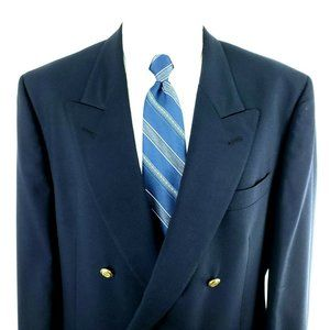 Jos A Bank 42R Double Breasted Gold Button Wool